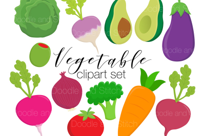 Vegetable Clipart Illustration Set