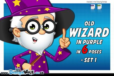Old Wizard In Purple – Set 1