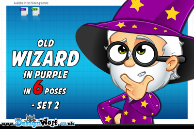Old Wizard In Purple – Set 2