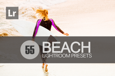 55 Beach Lightroom Presets bundle (Presets for Lightroom 5,6,CC)