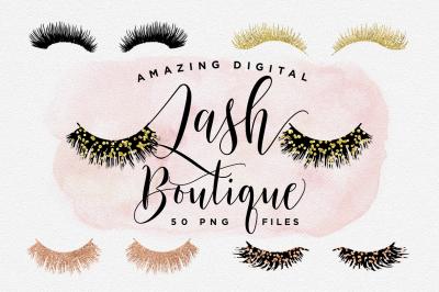 Digital Lash Boutique - Eye Lash Clip Art - Eye Lashes - Eyelashes