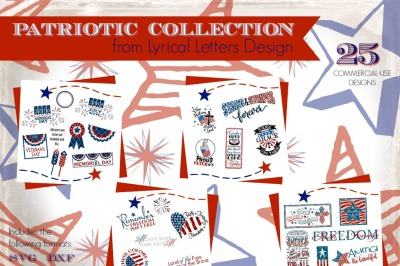 Patriotic SVG Collection Cut-Files  SVG DXF EPS AI JPG PNG