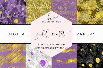 Digital paper - gold violet