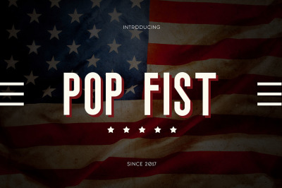 Pop Fist Typeface