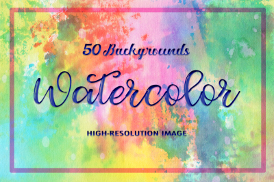 50 Watercolor Backgrounds 07