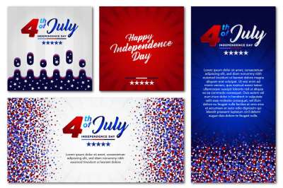 USA Independence Day Banner Pack