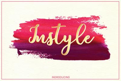 Instyle brush font