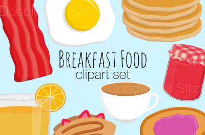 Breakfast Food Clipart Set