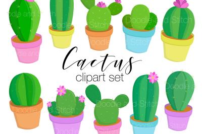 Cactus Clipart Illustration Set