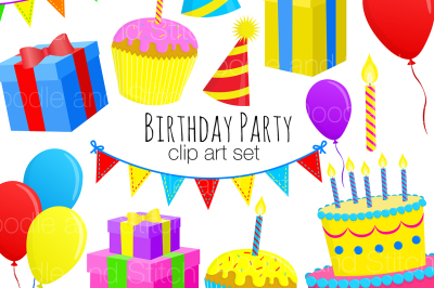 Birthday Party Clipart Set