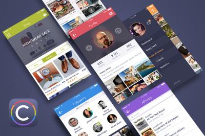 Coloristic: Mobile UI Kit