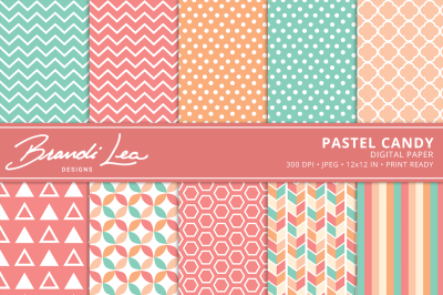 Pastel Candy Digital Paper