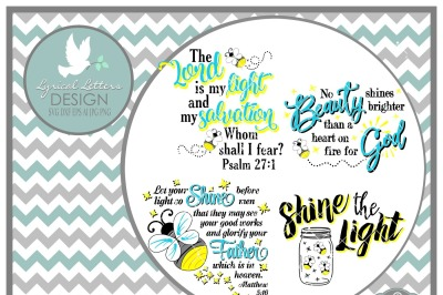 Firefly Lightening Bug Scripture Collection LL146  Cut-File in SVG DXF EPS AI JPG PNG