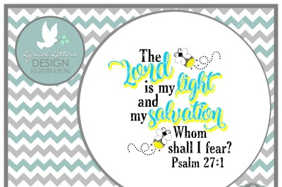 The Lord is My Light Psalm 27:1 Fireflies LL146 C   Cut-File in SVG DXF EPS AI JPG PNG