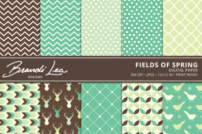 Fields of Spring Digital Paper Pack