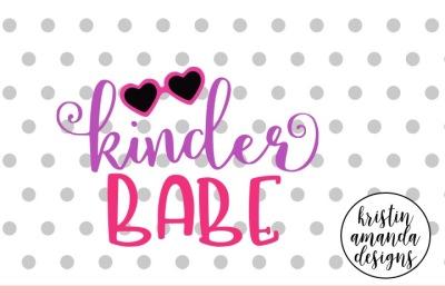 Kinder Babe Kindergarten SVG DXF EPS PNG Cut File • Cricut • Silhouette