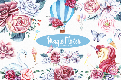 Magic flower clipart