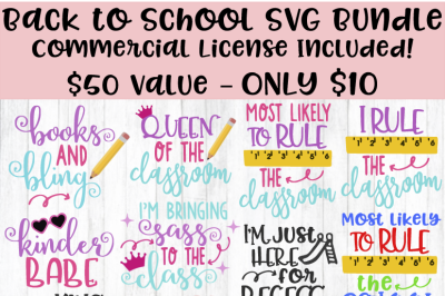 Back to School SVG Bundle SVG DXF EPS PNG Cut File • Cricut • Silhouette