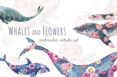 Whales and flowers
