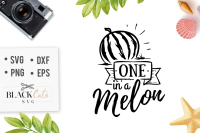 One in a melon SVG cutting file