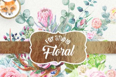 Watercolor Flowers Clipart, Peonies, Ranunculus, Wedding Invitation, Hand Painted, Greeting card, Peony Diy Romantic. Peonies