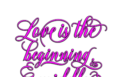 Love Is Svg, Eps, Dxf, Png File, Love Is The Beginning, Middle, And End Svg