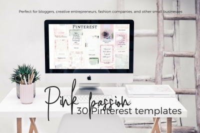 Pinterest templates- Pink passion