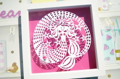 Mermaid paper cut SVG / DXF / EPS Files