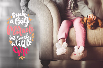 Baby Lettering. Child photo overlays