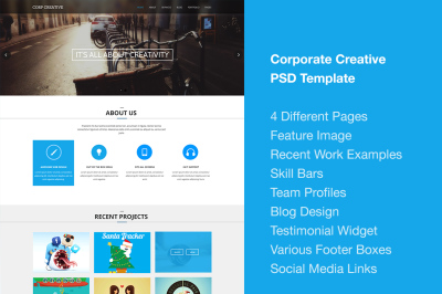 Corporate Creative PSD Template
