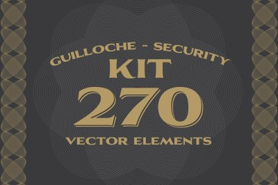 270 Vectors : Guilloche/Security Kit