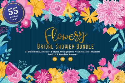 Flowery Bridal Shower