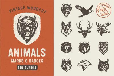 Animals Marks & Badges Bundle