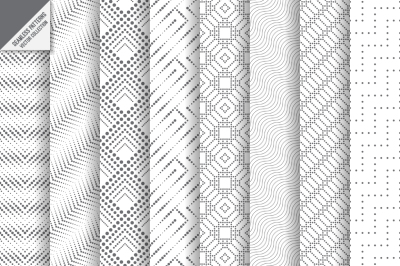 Set of dotted seamless backgrounds