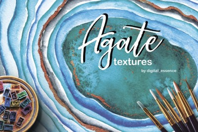 Agate watercolor backgrounds