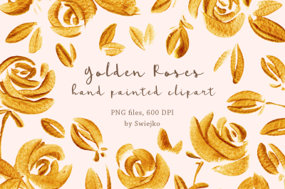 Gold Roses, golden flowers