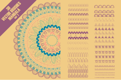 Vector pattern brushes for mandala - ver 2