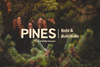 Pines Bold & Pines Bold Italic