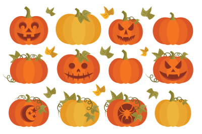 Fall Pumpkins Clip Art Set