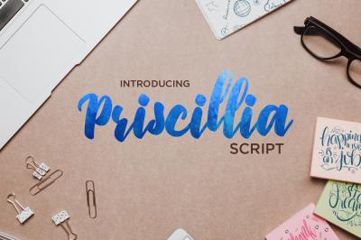 Priscillia Script ($1 Deals)