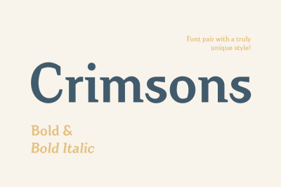 Crimsons — Bold & Bold Italic