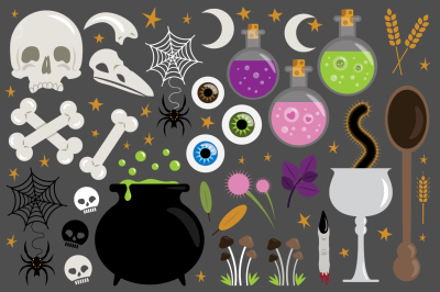 Witches Kitchen Clip Art Set