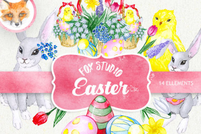 Easter Watercolor Egg Clipart, Spring Clip Art