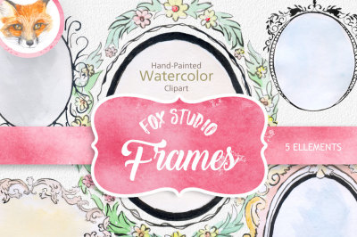 digital watercolor frames clipart  watercolor png frames watercolor  banners png digital label frame
