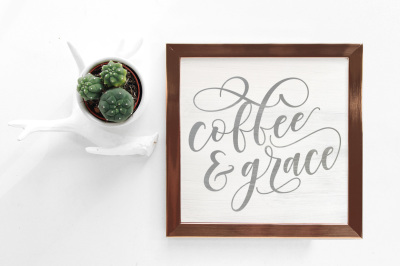 Coffee & Grace Craft files - SVG cut files - Vintage Coffee Sign files