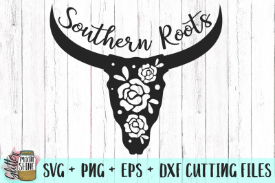 Southern Roots Longhorn SVG PNG DXF EPS Cutting Files