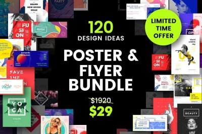 120 in 1 Poster & Flyer Templates Bundle