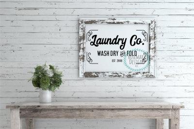 Laundry Co SVG