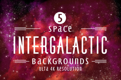 Intergalactic - space paper bundle of 5