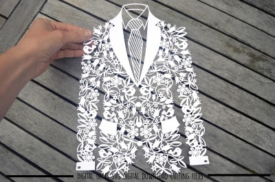 Groom Jacket SVG / DXF / EPS Files